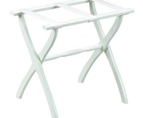 Gate House Furniture Item 1403 White Contoured Leg Luggage Rack with 3 White Nylon Straps 23 by 13 by 20-Inch Review