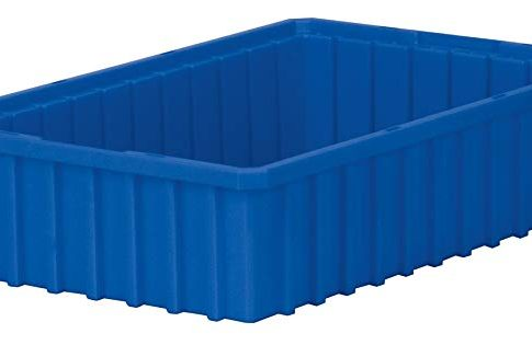 Akro-Mils 33164 Akro-Grid Slotted Divider Plastic Tote Box, 16-1/2 -Inch Length by 10-7/8-Inch Width by 4-Inch Height, Case of 12, Blue, Review