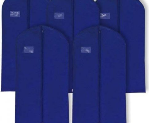 Hangerworld Pack of 10 Navy Blue Breathable Suit Garment Clothes Cover Bags – 40 Inches Review