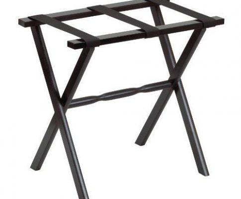Gate House Furniture Item 1005 Black Straight Leg Luggage Rack with 3 Black Nylon Straps 23 by 13 by 20-Inch Review