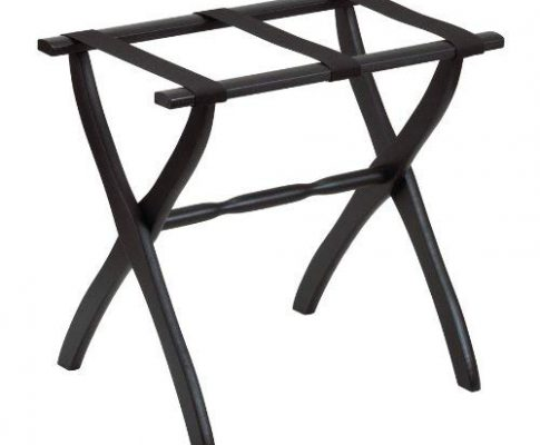Gate House Furniture Item 1405 Black Contoured Leg Luggage Rack with 3 Black Nylon Straps 23 by 13 by 20-Inch Review
