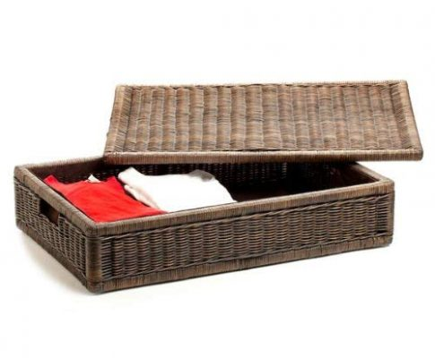 The Basket Lady Underbed Wicker Storage Box, Large, Antique Walnut Brown Review