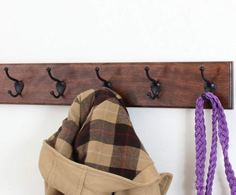 Solid Cherry Wall Mounted Coat Rack with Oil Rubbed Bronze Wall Coat Hooks – Made In the USA Review