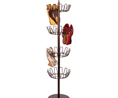 Honey-Can-Do SHO-02221 Shoe Tree with Spinning Handle, Bronze, 4-Tier Review