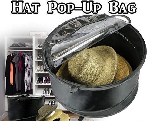 3 Bags, The Elixir Deco Premium Collapsible Pop-Up Dust Cover Hat Bag Organizer Storage Travel Bag Round Hat Box Review