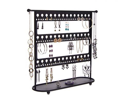 Angelynn's Earring Holder Organizer Jewelry Tree Stand Necklace Storage Rack, Laela Black Review
