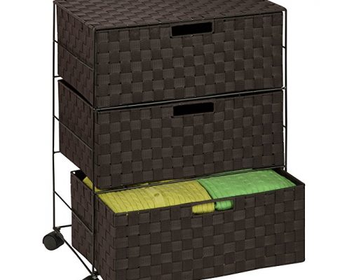 Honey-Can-Do OFC-03713 Double Woven 3-Drawer Chest Storage Organizer, Espresso Brown, 19.5L x 13W x 26H Review
