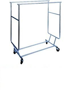 Double Bar Collapsible Clothing / Garment Rolling Rack Review