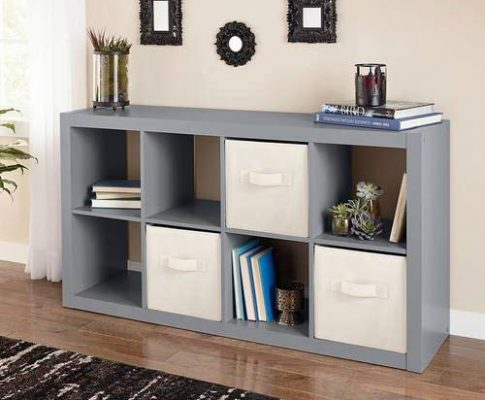 Horizontal or vertical 8 Cube Multiple Storage Organizer Gray Review