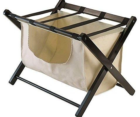 Winsome Trading Dora Luggage Rack with Removable Fabric Basket Review