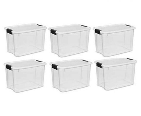 Sterilite 30 Qt. Ultra Storage Latch Box 6 pack Review