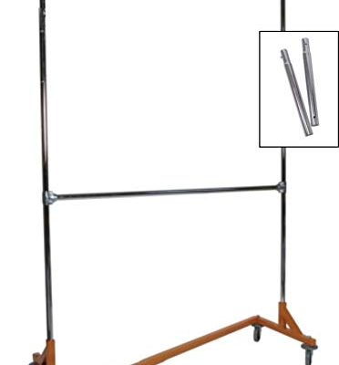 Extended Height Double Rail Rolling Z Rack Garment Rack with Orange Base Review