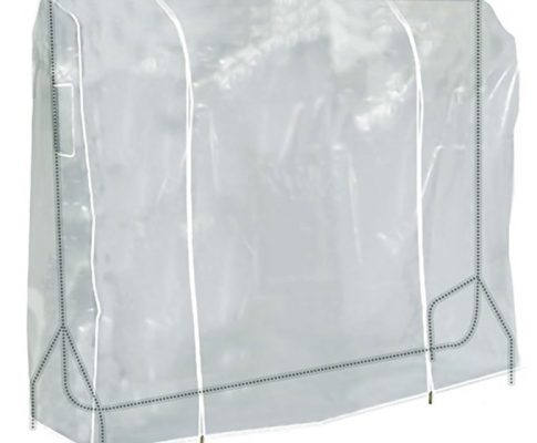 Hangerworld 6 ft (184cm) Transparent Clothes Garment Rail Cover with Strong Zipper and Document Pocket, Pack of 3 Review