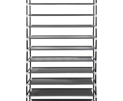 iBoost 10-Tier Vertical Fabric Shoe Tower Storage Rack, Holds 50 Pairs, Adjusts to 2-Tier, 3-Tier, or 5-Tier Rack Review