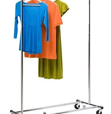 Honey-Can-Do GAR-01304 Collapsible Commercial Garment Rack with Wheels, Chrome Review