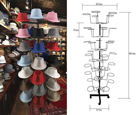 McWay Hat Racks Hat Display – 7 Tier 35 Hat Racks for Storefront, Cowboy Hats, and Baseball Hats Stand Rack Review