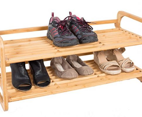 BirdRock Home 2-Tier Bamboo Shoe Rack | Environmentally Friendly | Fits 6-8 Shoes Review
