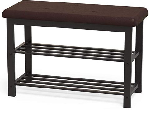 Simple Houseware Faux Leather Top Shoe Bench for Entryway Shoes Storage Organizer Rack Review