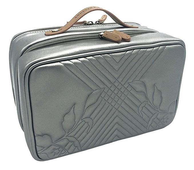 Angelina's Palace Jewelry Oragnizer Beynac Large Jewelry Case travel organizer big capacity detachable holders and snapped pouches (Memory Pewter)
