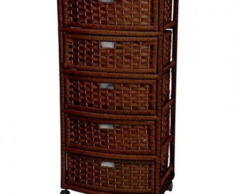 ORIENTAL FURNITURE 37″ Natural Fiber Chest of Drawers – Mocha Review