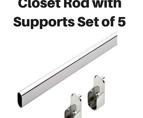 Closet Rod Oval by Hafele w/ supports Set of 5 (48″) Review