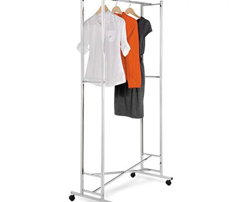 Honey-Can-Do GAR-01268 Deluxe Collapsible Garment Rack on locking Casters, Chrome Finish Review