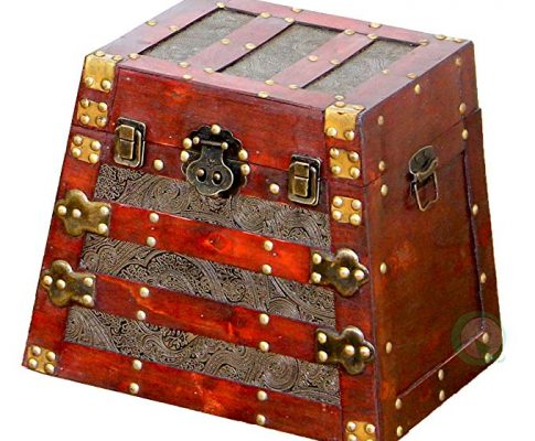 Vintiquewise(TM) Antique Pyramid Wooden Trunk, Small Review