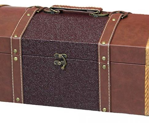Vintiquewise(TM) Leather Trunk/Treasure Chest for Scarves, 15-Inch Review