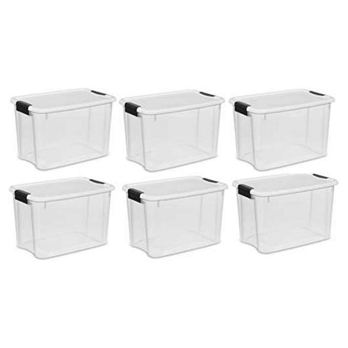 Sterilite 30 Qt. Ultra Storage Latch Box 6 pack