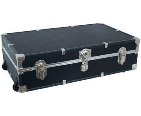 Mercury Luggage Seward Under the Bed Wheeled Storage Footlocker, 31″ (Black) Review