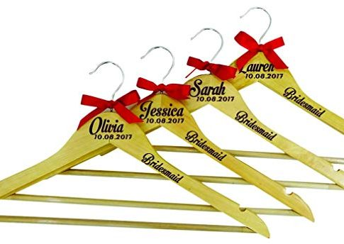 Bridesmaid Wood Hanger Personalized Name Wedding Hanger Bridesmaid Wedding Gift Review