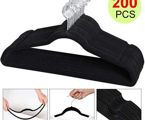 Yaheetech Velvet Clothes Hanger (200PCS, Black) Review