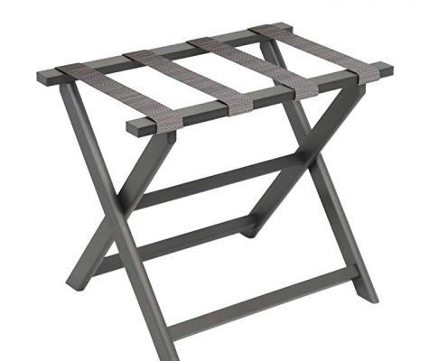 Fine Folding Furniture Gate House Furniture Dark Grey Eco-Poly Folding Luggage Rack with 4 Driftwood Weave Straps Review