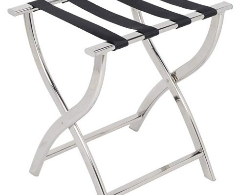 AMENITIES DEPOT Folding Chrome Stainless Steel Luggage Rack (J-12A) Review