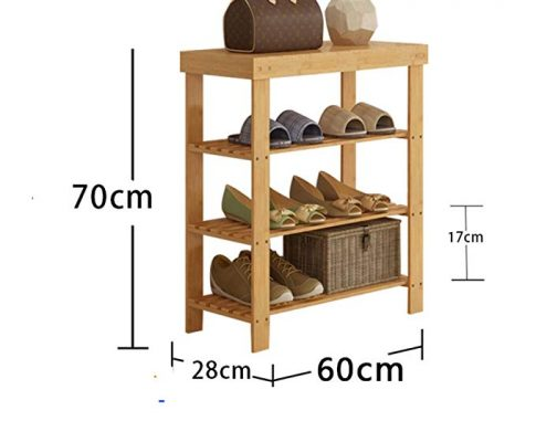 DULPLAY Shoe rack,Bamboo shoe rack,Entryway shoe shelf Change the shoes stool Stand shelves Stackable Entryway bedroom 2-4 tier 9-18 shoes -L 70x28x60cm(28x11x24inch) Review