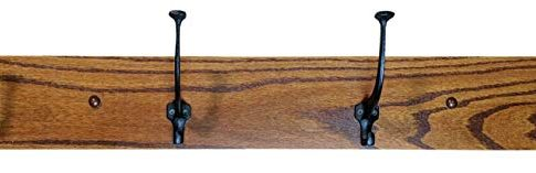 Wood Coat Rack Hanger Wall Mounted, Mission, 4 Hook, Oak Wood, Michaels Stain, 4″H Review