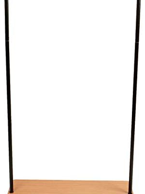 Mind Reader Heavy Duty Rolling Clothing Garment Rack, Commercial Grade, with Bottom Wood Shelf Organizer, Black Review