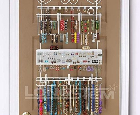 Longstem Organizers Over-Door/Wall Jewelry Organizer, Rated Best Unique Patented Product, White Review