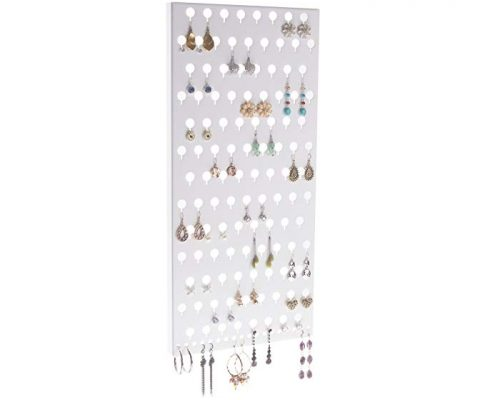 Angelynn's Wall Earring Holder Organizer Jewelry Storage Rack, Michelle White Review