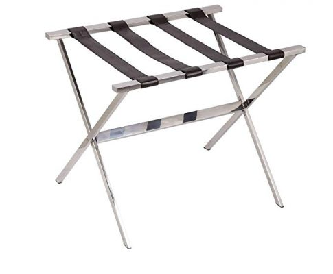 Household Essentials Luggage Rack, Stainless Steel Review