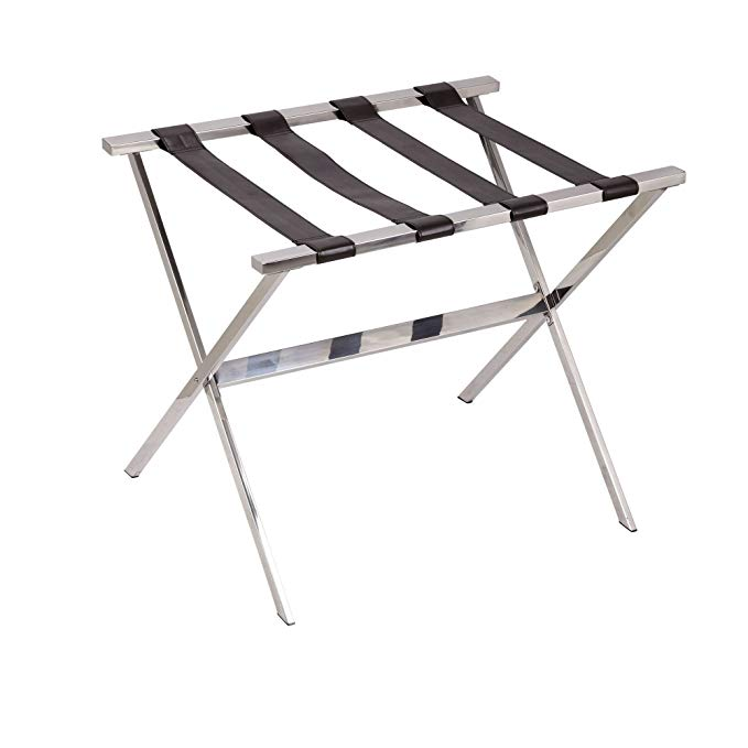 Household Essentials Luggage Rack, Stainless Steel