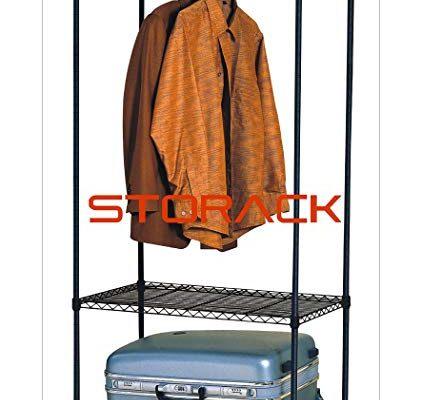 Storack 3 Tier Rolling Storage Closet Shelf Organizer, Black Review