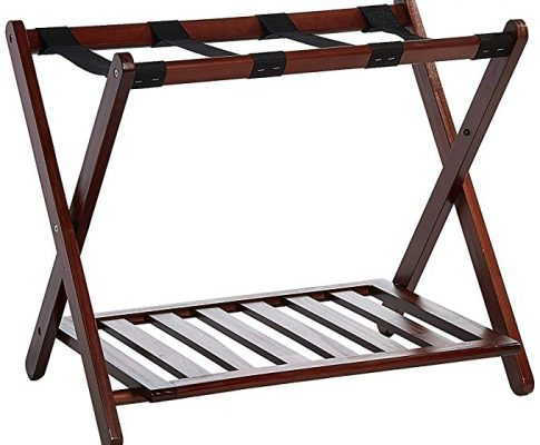 Casual Home Luggage Rack with Shelf Review