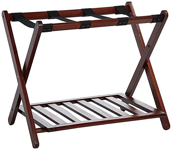 Casual Home Luggage Rack with Shelf