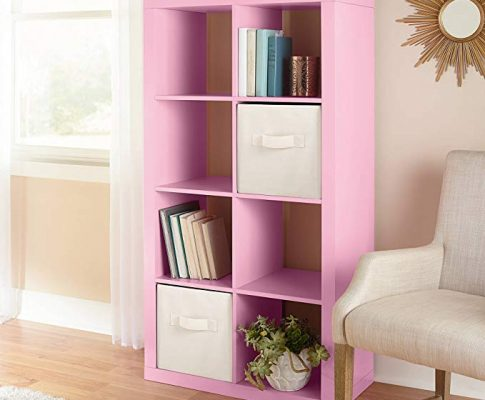 Horizontal or vertical 8 Cube Multiple Storage Organizer in Pink Review