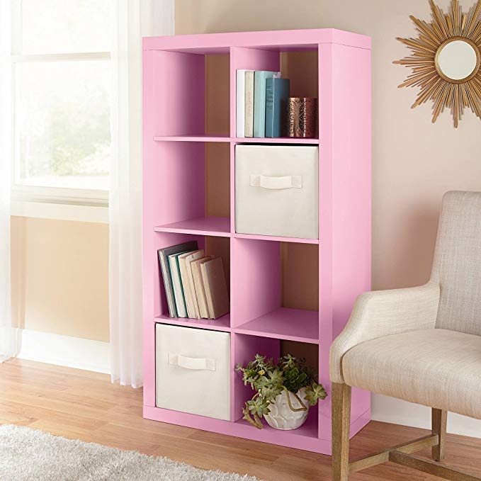 Horizontal or vertical 8 Cube Multiple Storage Organizer in Pink