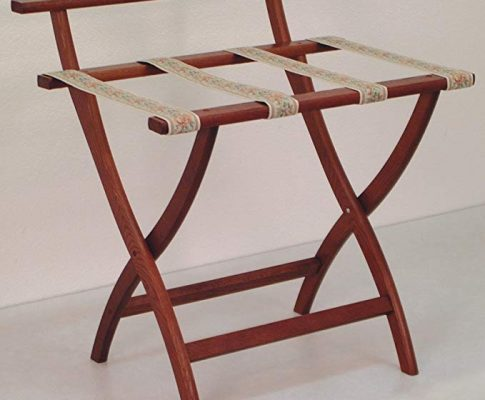 Wooden Mallet WallSaver Luggage Rack, Mahogany, Brown Straps Review