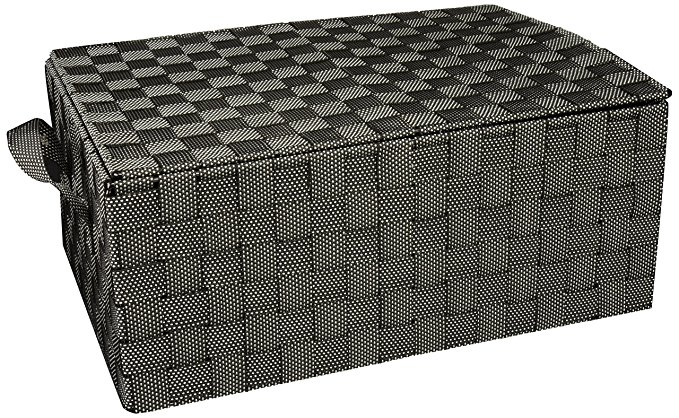 Honey-Can-Do OFC-03715 Double Woven 3-Drawer Wheeled Chest, Salt/Pepper